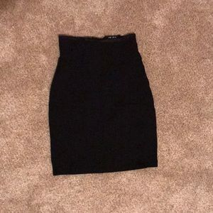 Black high wasted mini skirt